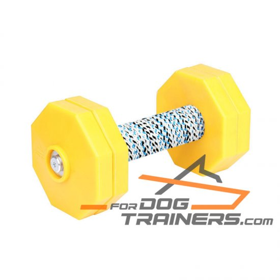 'High Load' Reliable Dog Training Dumbbell with Plastic Weight Plates - 1000 g (1 kg)