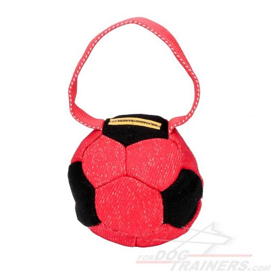 'Soccer Fan' Colorful French Linen Dog Bite Tug