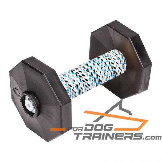 'Safe Training' Retrieve Dog Dumbbell with Removable Weight Plates (650 g)