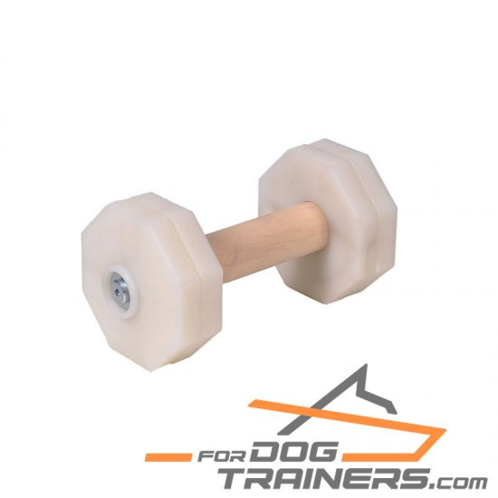 'Extreme Training' Wooden Dog Dumbbell with Plastic Removable Plates for Schutzhund Training II 1 kg (1000 gr)