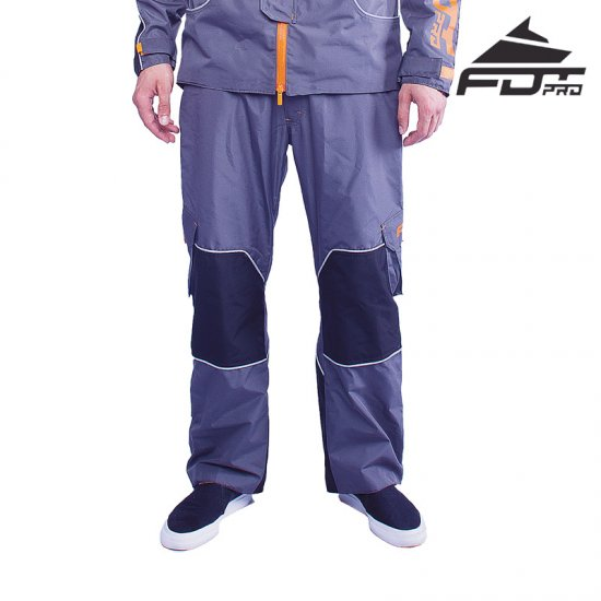 """Pro Pants"" Dark Grey Color with Orange Trim Presented by FDT Pro"