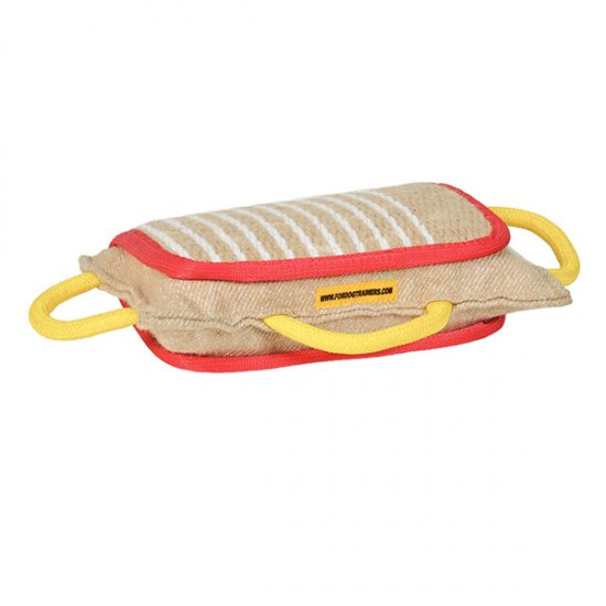 New Dog Bite Pad Made of Jute with 3 Handles
