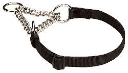Training Martingale Dog Collar for All Weather Wearing with Chain
