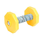 'Training Is Fun' Wooden Dog Dumbbell with Synthetic Cover 650 g (0.650 kg)