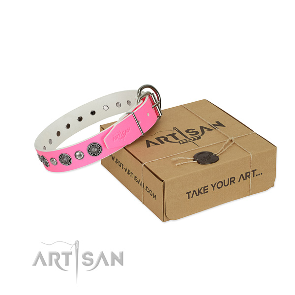 Trendy Dog Collar Decorated with Round Studs