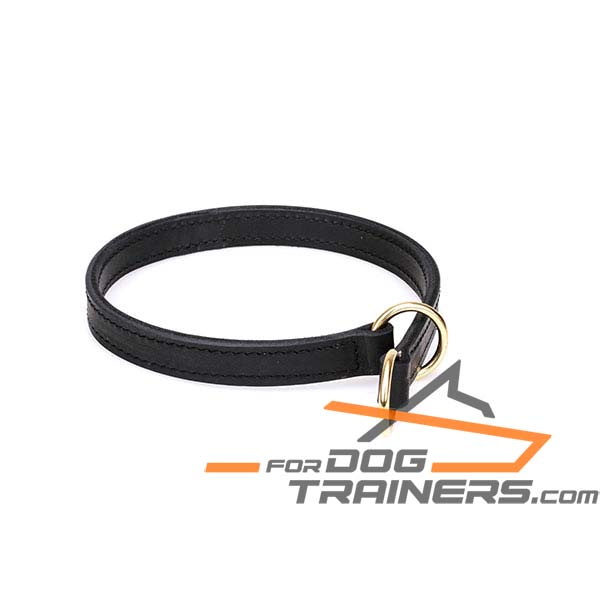 Leather Dog Collar with Durable O-Rings