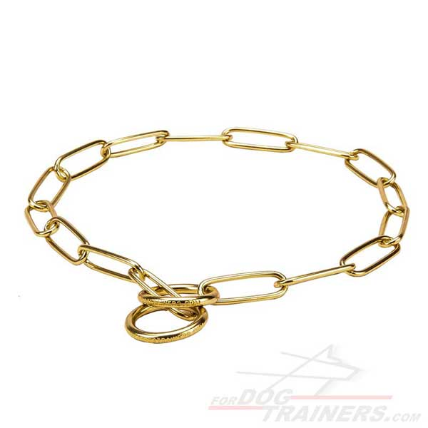 Fur Saver Canine Collar with Brass Links