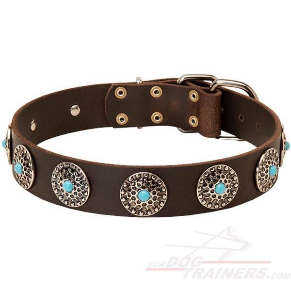 Hand crafted Leather Collar