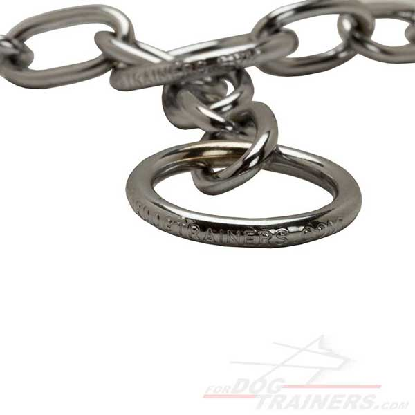 Chrome plated chain collar