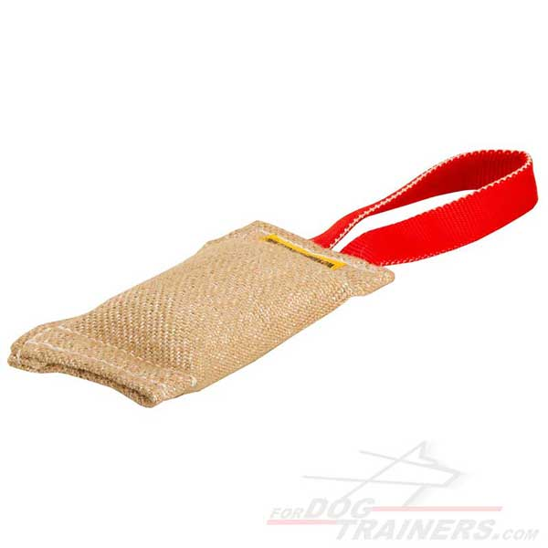 One Handle Dog Training Bite Tag Jute