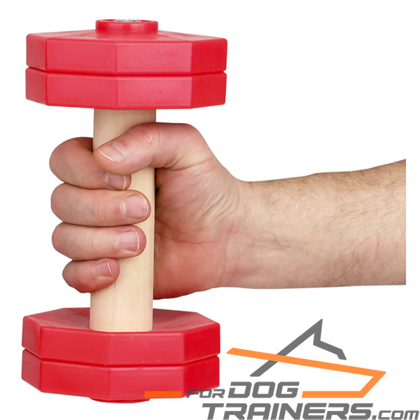 Professional Training Dog Dumbbell Made of Dry Wood