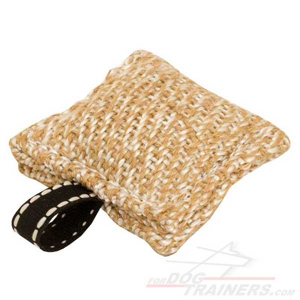 Training Jute Dog Bite Tag Small Puppy Toy