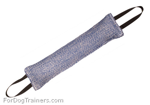 Heavy stuffed french linen bite tug for training