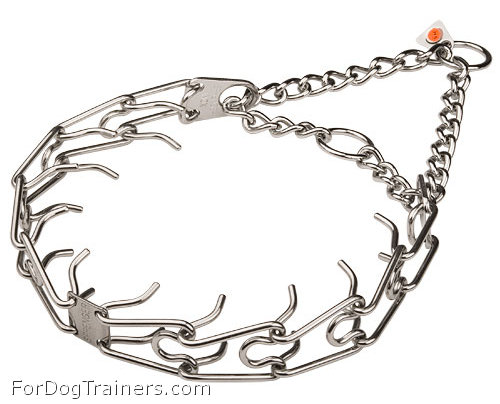 STAINLESS STEEL-Dog pinch collar - 50004 55 1/8 inch (3.25 mm) ( Made in Germany )