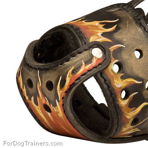 Exclusive Dog Muzzle made of Leather