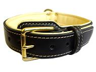 Royal Nappa Padded Hand Made Leather Dog Collar - code C443