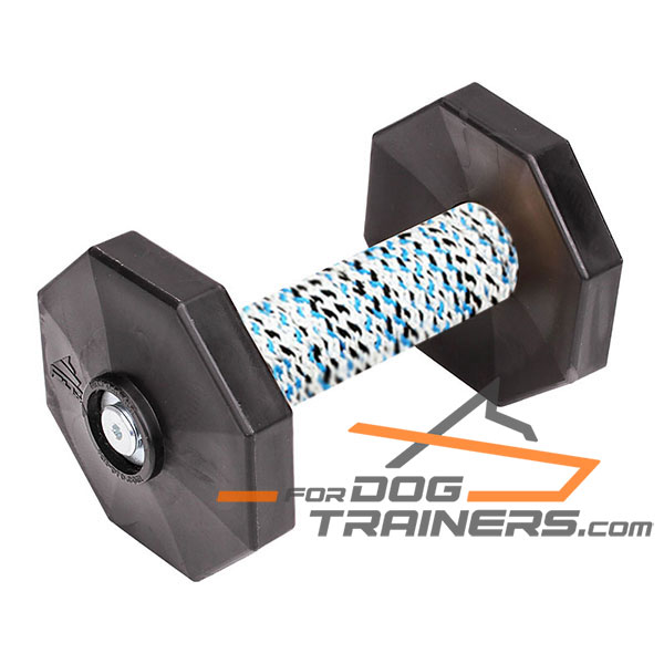 Dog Training Dumbbell with Black Weight Plates