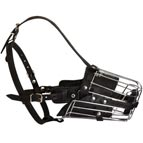 Metal Cage Dog Muzzle for Training and Walking
