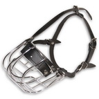 Metal Basket Dog Muzzle for Biting Prevention