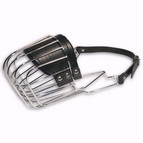 One Strap Muzzle - Well-Ventilated Wire Cage Dog Muzzle for Walking and Breathing Freely